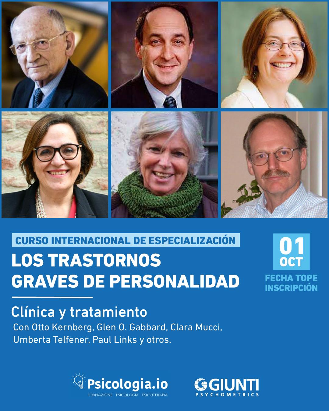 Curso Especialización: Los Trastornos Graves de Personalidad