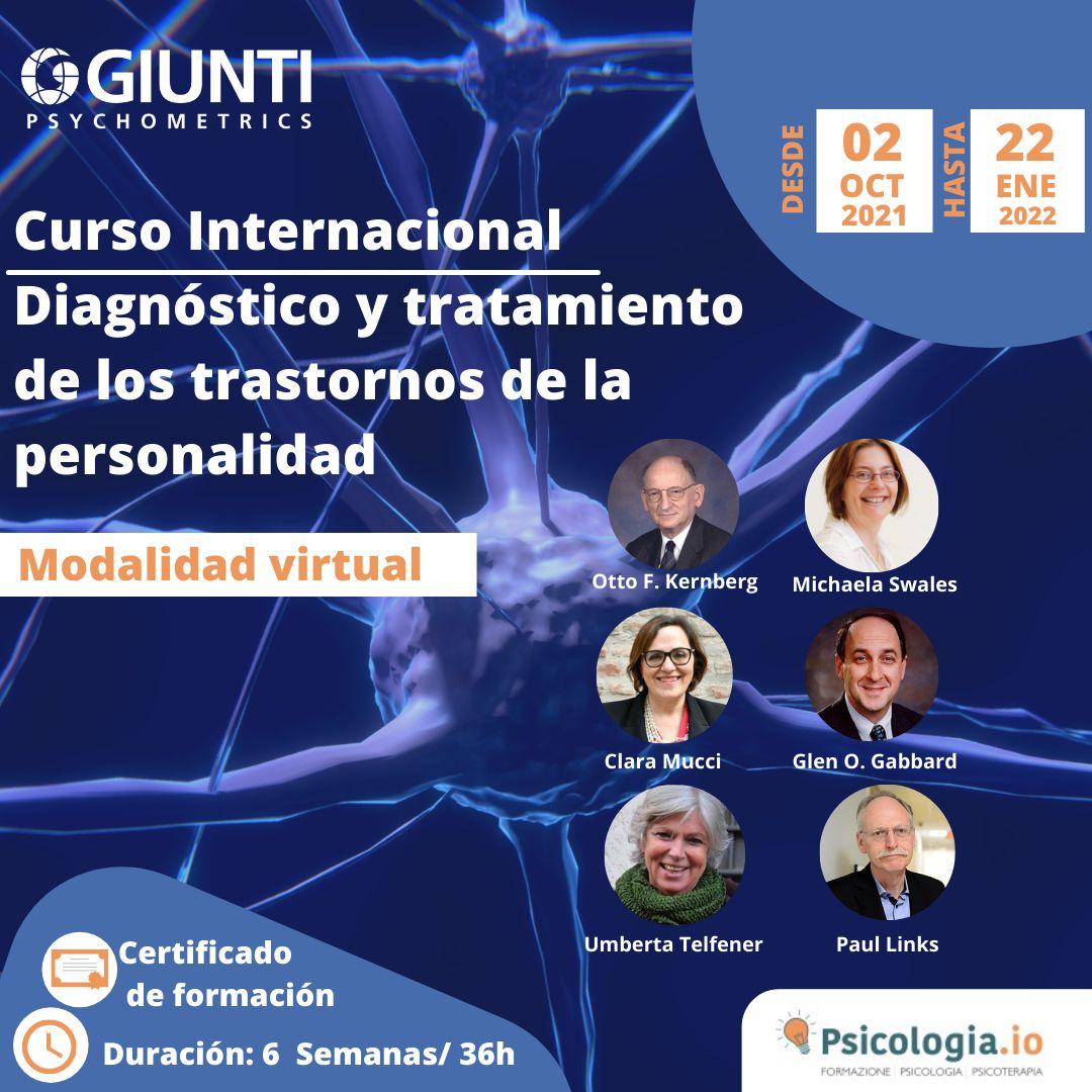 Curso Internacional Trastornos de personalidad: Diagnóstico y tratamiento