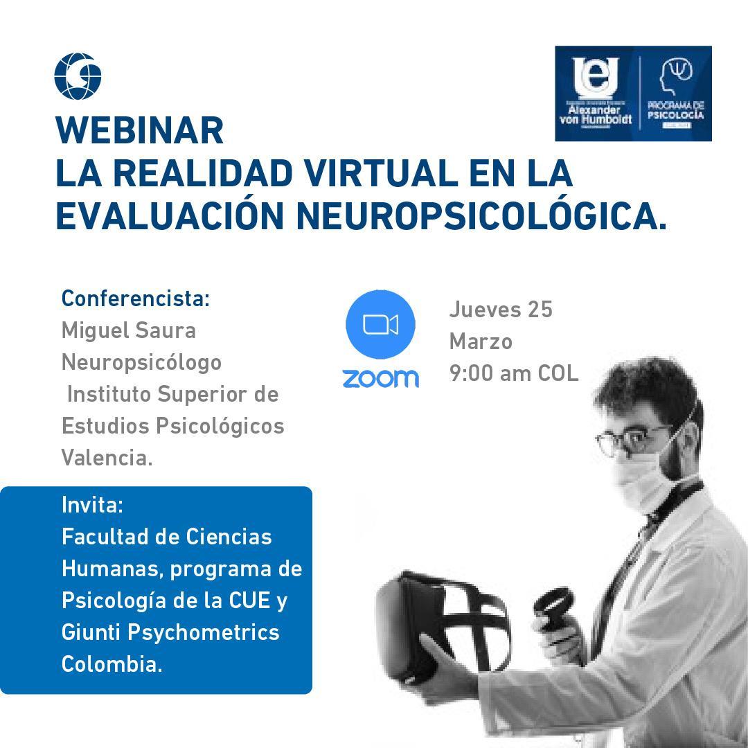 Webinar La realidad virtual en la evaluación neuropsicológica